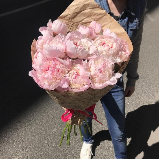 Шикарные пионы для шикарной дамы: букеты цветов на заказ Flowwow