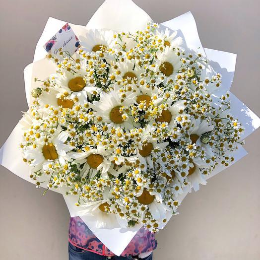 45 ромашек микс: букеты цветов на заказ Flowwow