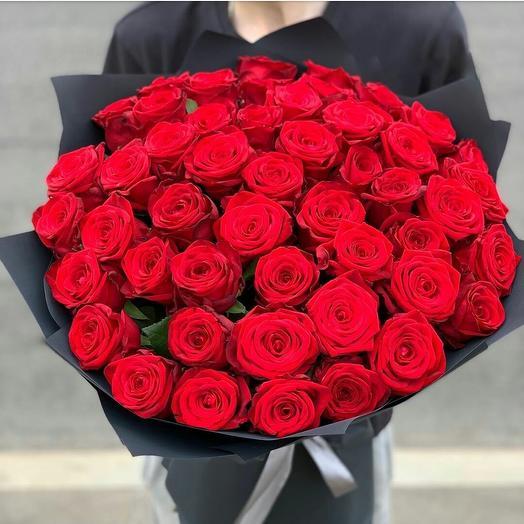 """Стильный букет роз """"Пламя любви"""""""