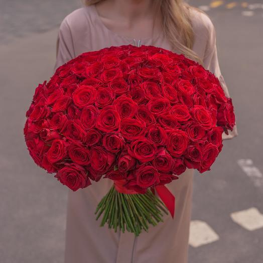"""Букет """"151 Красная Роза"""": букеты цветов на заказ Flowwow"""