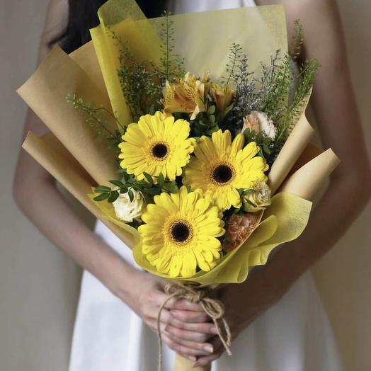 Букет Солнце: букеты цветов на заказ Flowwow