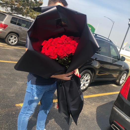 Giant bouquet with red roses: flowers to order Flowwow