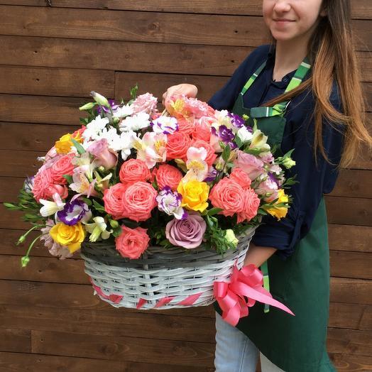 Корзина «Мечта»: букеты цветов на заказ Flowwow