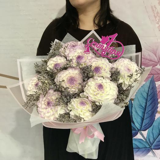 Нежный букет Георгинов: букеты цветов на заказ Flowwow
