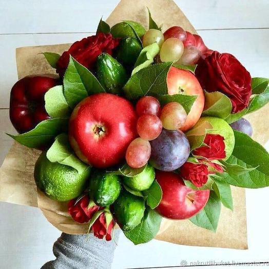 Съедобный букет 9: букеты цветов на заказ Flowwow