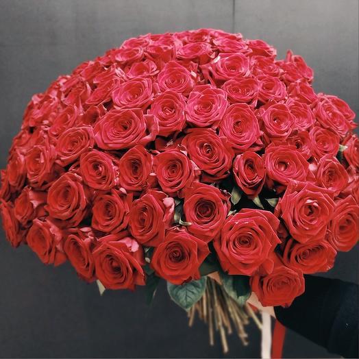 101 Бордо: букеты цветов на заказ Flowwow