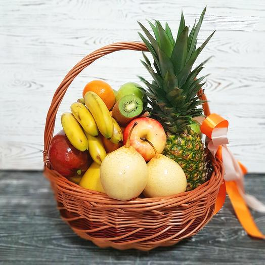 Корзина с фруктами MAXI 4: букеты цветов на заказ Flowwow