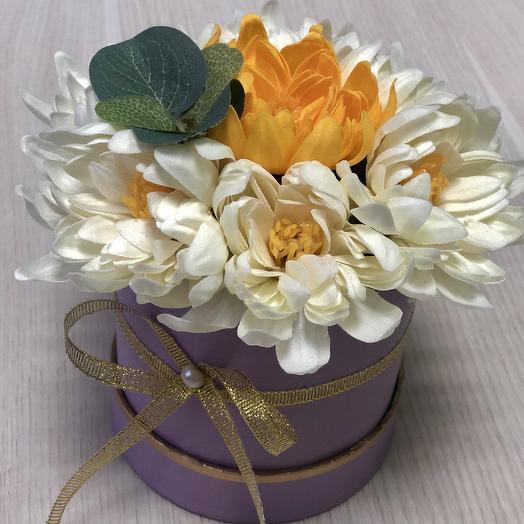 Букет хризантем на мыльной основе: букеты цветов на заказ Flowwow
