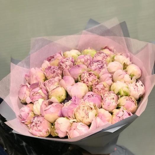 Пионы Сара Бернар  51 шт: букеты цветов на заказ Flowwow