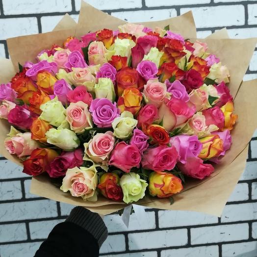 101 нежнейшая роза: букеты цветов на заказ Flowwow