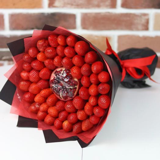 Букеты из фруктов. 🍓Клубника🍓, гранат. N410