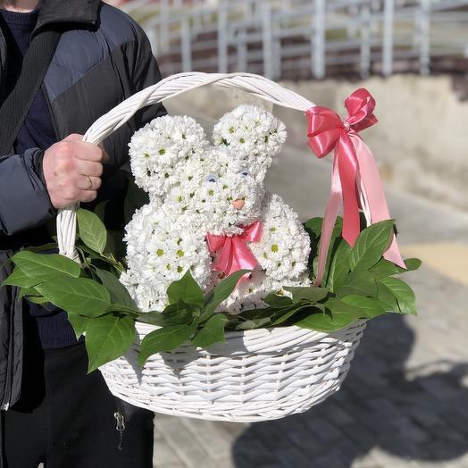 Мишка в лесу: букеты цветов на заказ Flowwow