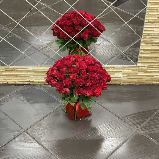 Роза 51 шт: букеты цветов на заказ Flowwow