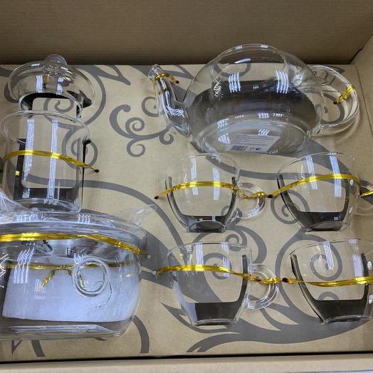 Набор для чайной церемонии из жаропрочного стекла: букеты цветов на заказ Flowwow