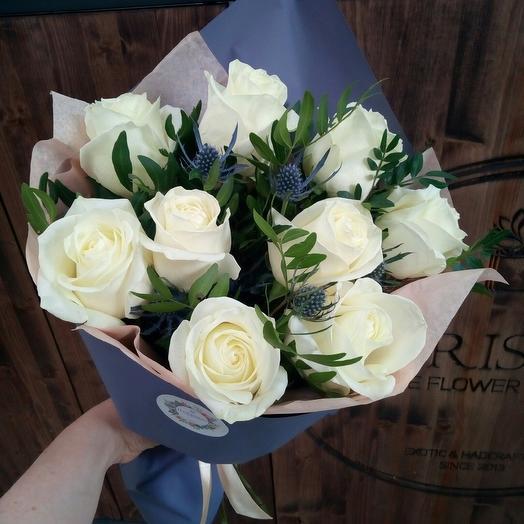 """Букет """"Гламур"""" со светлыми розами"""