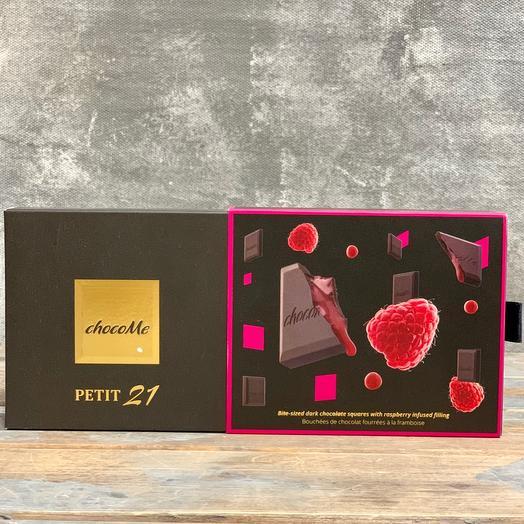 Мини плиточный шоколад ручной работы с вкуснейшей малиной: букеты цветов на заказ Flowwow