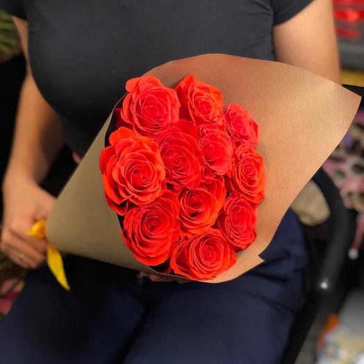11 роз премиум 50 см