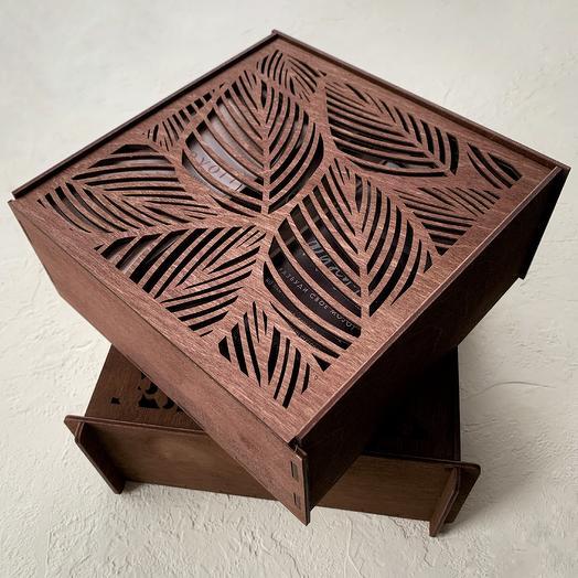 """Подарочная коробка-шкатулка """"Листья"""""""