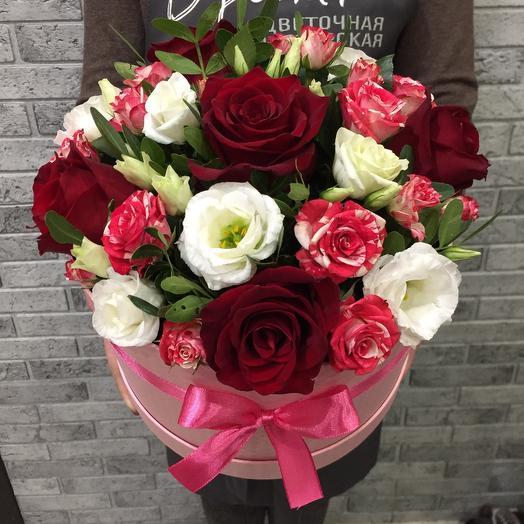 Цветы в коробке 7717