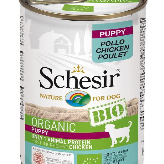 Schesir Bio консервы для щенков с курицей 400 г