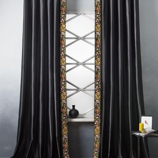 Комплект штор Шарлиз Черный, 200х280 см - 2 шт
