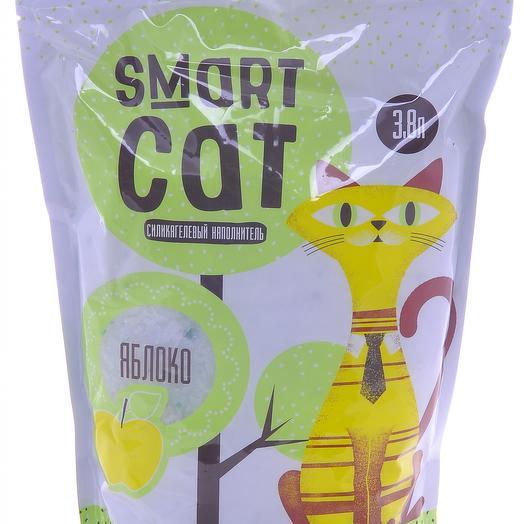 Smart Cat наполнитель силикагелевый с ароматом яблока 3,8 л