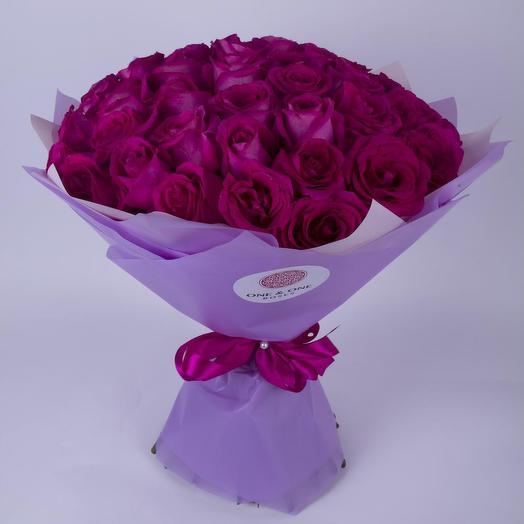 51 крупная роза Пинк Флойд, Эквадор. Премиум-класс