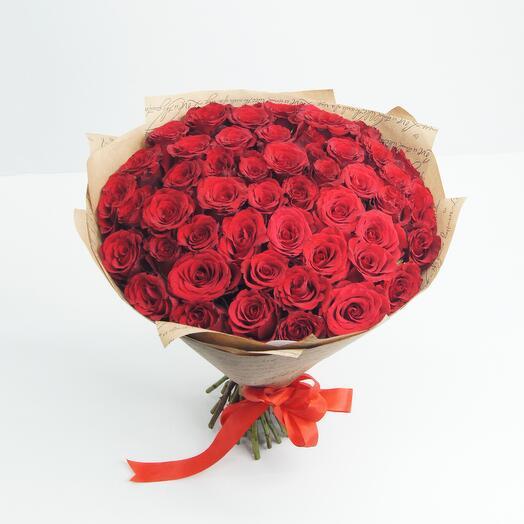 Букет из 51 красных роз