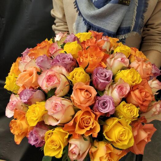 51 роза 40см