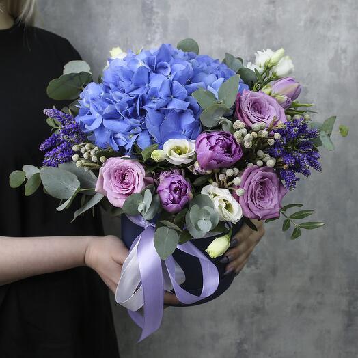 Коробка с цветами «Акварель»