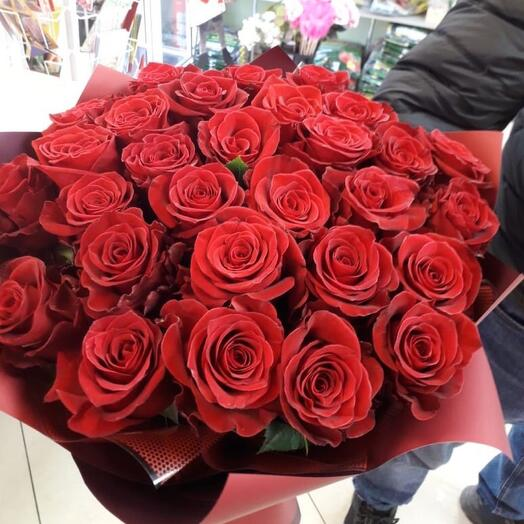 Монобукет из 25 роз Эквадор , 40 см