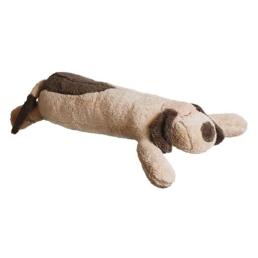 Махровый бежевый пёсик-подушка 90см