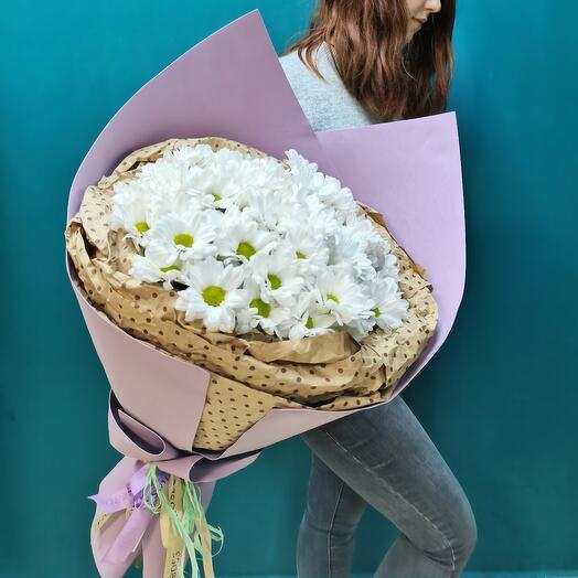 Букет из 15 хризантем