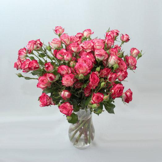 Букет из 9 розовых кустовых роз 50 см: букеты цветов на заказ Flowwow