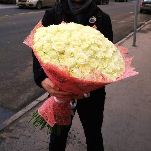 Розы. 101 белая роза