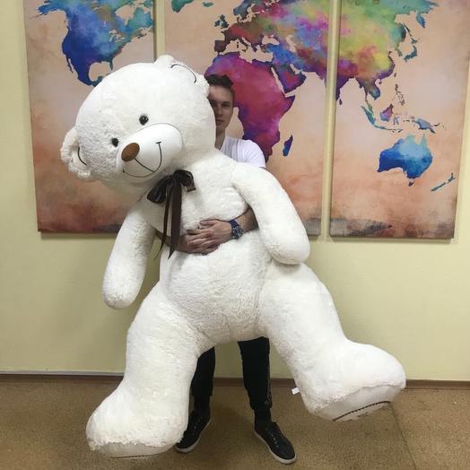 Медведь плюшевый 220 см: букеты цветов на заказ Flowwow