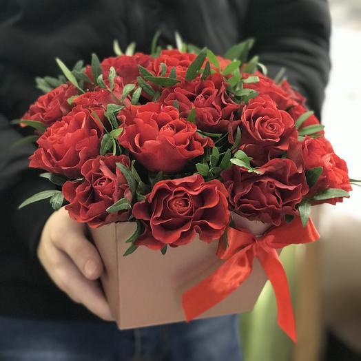 Коробка из 19 роз эльторо: букеты цветов на заказ Flowwow