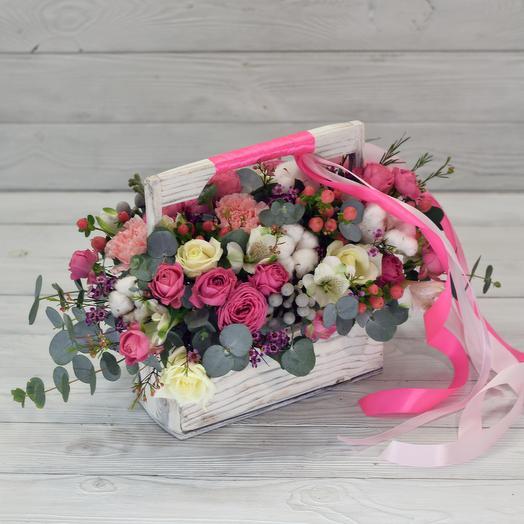Ящик Ламборгини: букеты цветов на заказ Flowwow