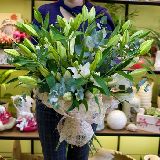 """Букет из лилий """"Aroma"""": букеты цветов на заказ Flowwow"""
