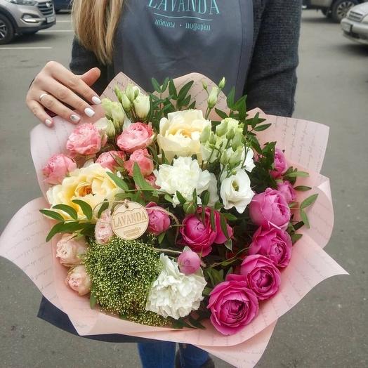 """Букет с пионовидными розами""""Есения"""": букеты цветов на заказ Flowwow"""