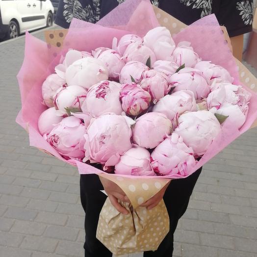 Букет из 27 пионов: букеты цветов на заказ Flowwow