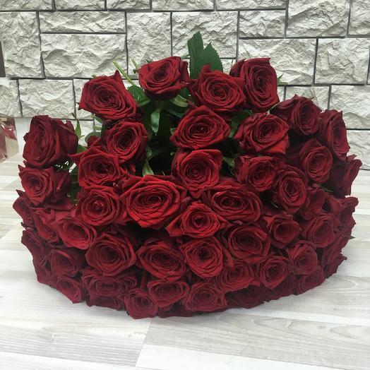 Букета 51 красная роза: букеты цветов на заказ Flowwow