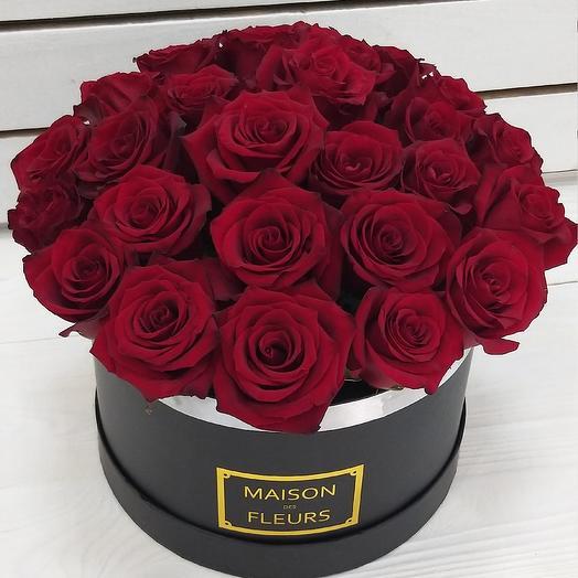 Коробка, 27 роз