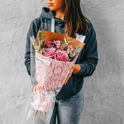 Букет из 5 роз: букеты цветов на заказ Flowwow