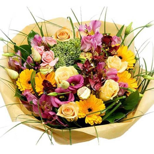 "Букет из цветов ""Летние фантазии"": букеты цветов на заказ Flowwow"