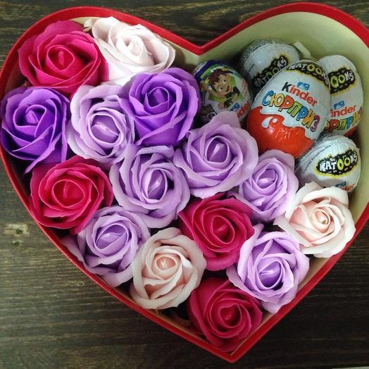 РОЗА ИЗ МЫЛА.  Любимой: букеты цветов на заказ Flowwow