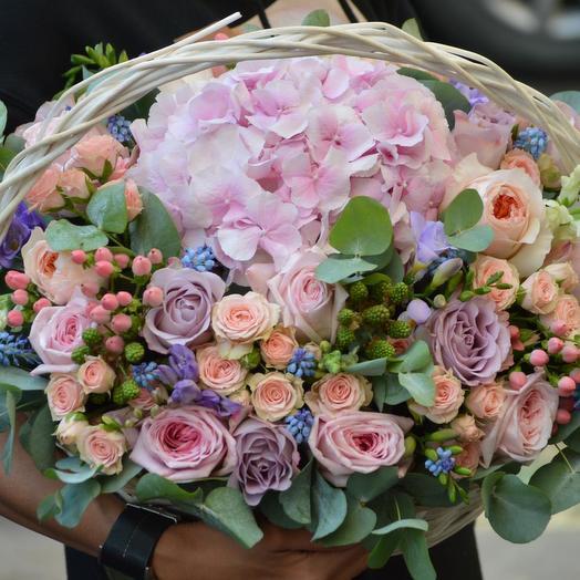 """Корзина из цветов """"Забвение"""": букеты цветов на заказ Flowwow"""