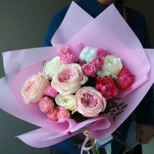Букет садовых роз: букеты цветов на заказ Flowwow
