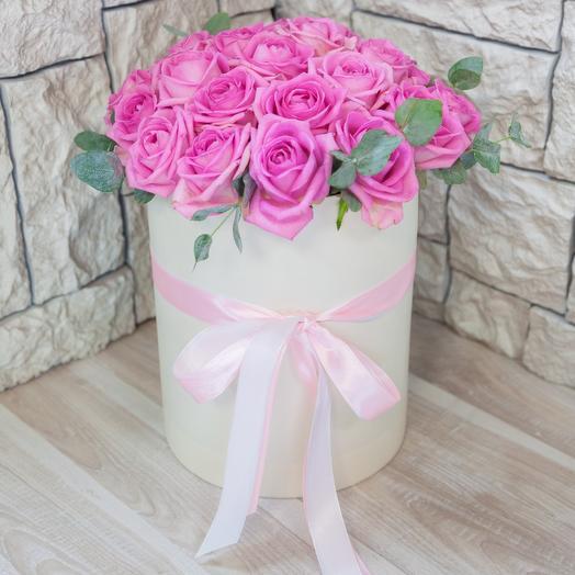 Коробка из 29 розовых роз