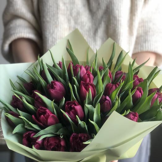 Тюльпаны пионовиднын: букеты цветов на заказ Flowwow